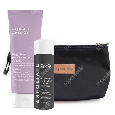 Paulas Choice Resist Weightless Body Treatment 2% BHA + Skin Perfecting 2% BHA Liquid ZESTAW Balsam do ciała 210 ml + Płyn z 2% kw. salic. 118 ml + kosm