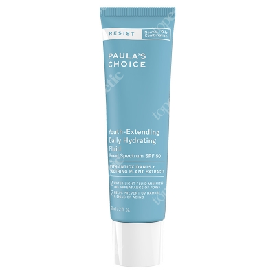 Paulas Choice Resist Youth Extending Daily Hydrating Fluid SPF 50 Fluid nawilżający do skóry tłustej i mieszanej 60 ml