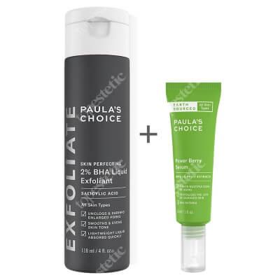 Paulas Choice Skin Perfecting 2% BHA Liquid + Power Berry Serum ZESTAW Płyn złuszczający z 2% kwasem salicylowym 118 ml + Serum naprawcze do każdego rodzaju skóry 30 ml