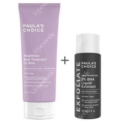 Paulas Choice Skin Perfecting 2% BHA Liquid + Resist Weightless Body Treatment 2% BHA ZESTAW Płyn złuszczający z 2% kwasem salicylowym 30 ml + Balsam złuszczający do ciała 210 ml
