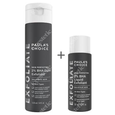 Paulas Choice Skin Perfecting 2% BHA Liquid + Skin Perfecting 2% BHA Liquid ZESTAW Płyn złuszczający z 2% kwasem salicylowym 118 ml + Płyn złuszczający z 2% kwasem salicylowym 30 ml