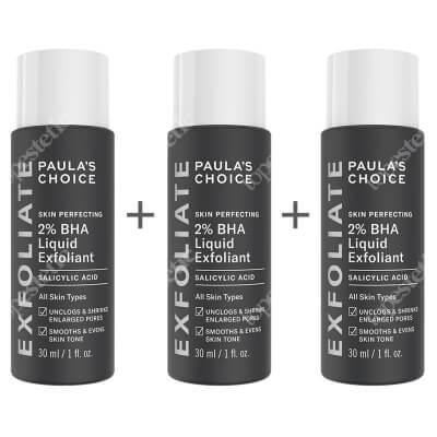 Paulas Choice Skin Perfecting 2% BHA Liquid x 3 ZESTAW Płyn złuszczający z 2% kwasem salicylowym 30 ml x 3 szt