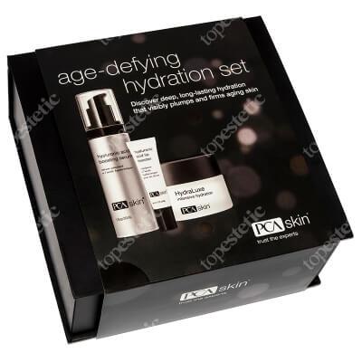 PCA Skin Age Defying Hydration Set ZESTAW Serum intensywnie nawilżające 28 g + Balsam do pielęgnacji ust 6 g + Krem nawilżający 55 g