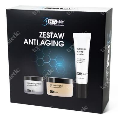 PCA Skin Anti Aging Set ZESTAW Krem nawilżający 48,2 g + Delikatny preparat oczyszczający 85 g + Balsam do intensywnej pielęgnacji ust 6 g