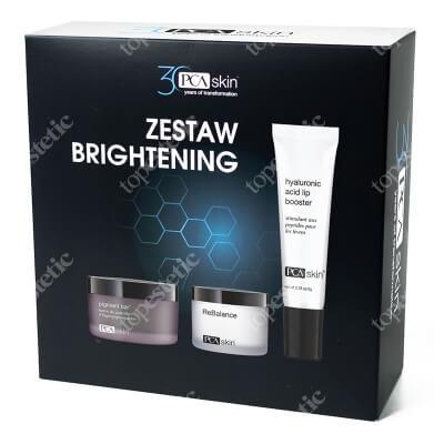 PCA Skin Brightening Set ZESTAW Krem 48.2 g + Preparat oczyszczająco-rozjaśniający 92.4 ml + Balsam do intensywnej pielęgnacji ust na codzień 6 g