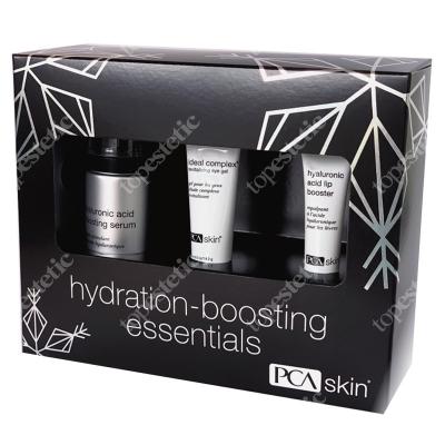 PCA Skin Hydration Boosting ZESTAW Serum intensywnie nawilżające 28 g + Rewitalizujący żel pod oczy 14,2 g + Balsam do intensywnej pielęgnacji ust na
