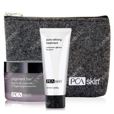PCA Skin Oczyszczenie I Rozjaśnienie ZESTAW Preparat oczyszczająco-rozjaśniający 92.4 ml + Preparat złuszczający 60 g + Kosmetyczka 1 szt