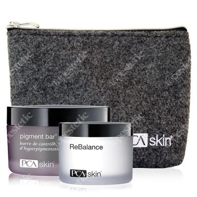PCA Skin Rozjaśnenie i Nawilżenie ZESTAW Preparat oczyszczająco-rozjaśniający 92.4 ml + Krem 48.2 g + Kosmetyczka 1 szt