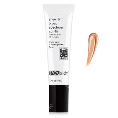 PCA Skin Sheer Tint Broad Spectrum SPF 45 Tonujący krem wodoodporny z wysoką ochroną przeciwsłoneczną 50 ml