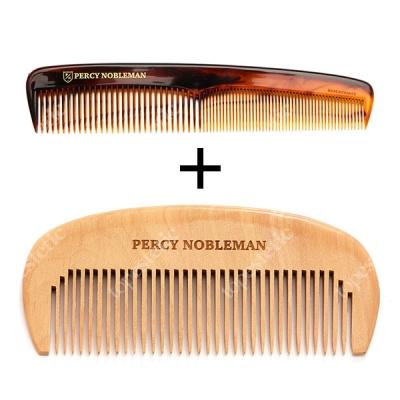 Percy Nobleman Hair Comb + Beard Comb ZESTAW Grzebień do włosów i do brody