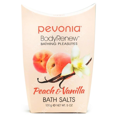 Pevonia Bath Salts Peach & Vanilla Sole do kąpieli Brzoskwinia & Wanilia 150 ml
