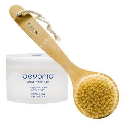 Pevonia Crepe-No-More Body Cream + Body Brush ZESTAW Odmładzający i ujędrniający balsam do ciała 200 ml + Szczotka do masażu ciała 1 szt