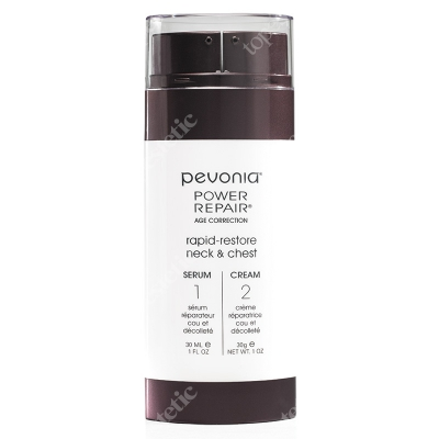 Pevonia Rapid Restore Neck & Chest Serum & Cream Serum & Krem do szyi i dekoltu 2 x 30 ml