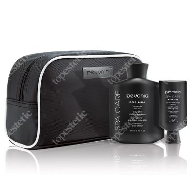 Pevonia Shave Perfection Set ZESTAW Emulsja do golenia 200 ml + Balsam 50 ml + Ekskluzywna kosmetyczka