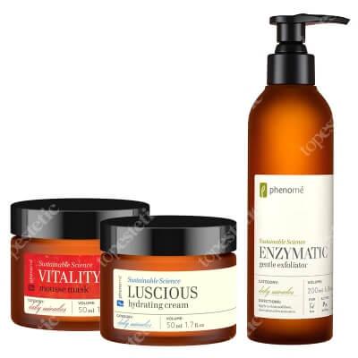 Phenome Luscious + Vitality Shine + Enzymatic ZESTAW Krem 50 ml + Maseczka 50 ml + Peeling enzymatyczny 200 ml