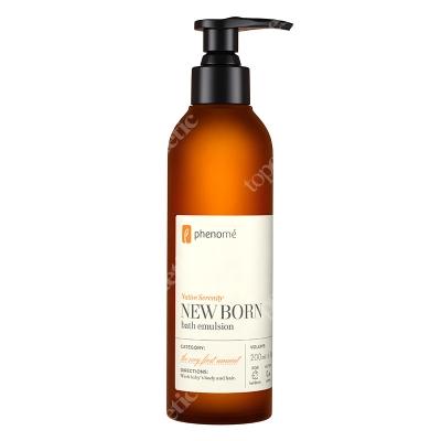 Phenome New Born Bath Emulsion Delikatna emulsja do mycia ciała i włosów dla dzieci i niemowląt 200 ml