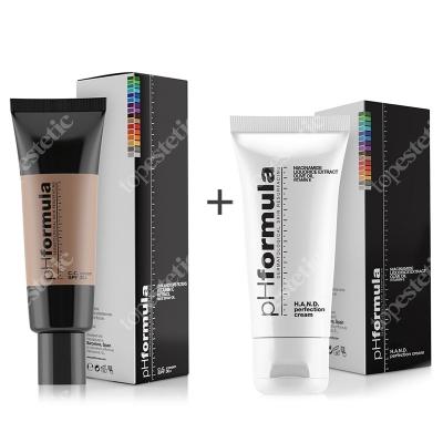phFormula C.C. Cream SPF 30+ Medium + Hand Cream ZESTAW Krem barwiony ochronny z retinolem i witaminą C 50 ml + Intensywny krem do pielęgnacji dłoni 50 ml