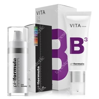 phFormula CR Recovery + VITA B3 24h ZESTAW Serum przeciwnaczynkowe 30 ml + 24-godzinny krem nawilżający, łagodząco-przeciwnaczynkowy z 5% Niacyną 50 ml