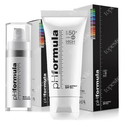 phFormula MELA Recovery + UV Protect SPF 50+ ZESTAW Kremowy aktywny koncentrat - terapia na noc 30 ml + Aktywny krem ochronny 50 ml