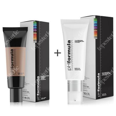 phFormula Neck Recovery + C.C. Cream SPF 30+ Medium ZESTAW Aktywny krem pielęgnujący skórę szyi i dekoltu 30 ml + Krem barwiony ochronny z retinolem i witaminą C 50 ml