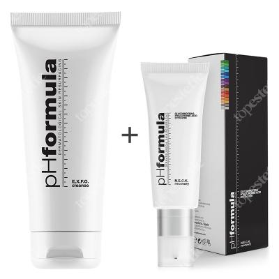 phFormula Neck Recovery + EXFO Cleanse ZESTAW Aktywny krem pielęgnujący skórę szyi i dekoltu 30 ml + Emulsja oczyszczająca 200 ml