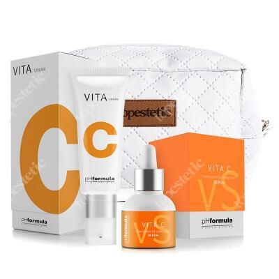 phFormula Vita C Set ZESTAW Aktywny krem o silnym działaniu antyoksydacyjnym 50 ml + Aktywne serum na bazie witaminy C 30 ml + kosmetyczka