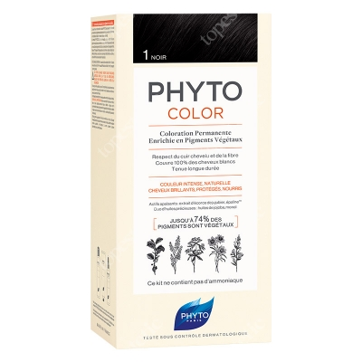 Phyto PhytoColor 1 Noir Farba do włosów - kolor czarny 50+50+12