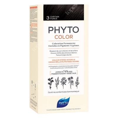 Phyto PhytoColor 3 Chatain Fonce Farba do włosów - ciemny kasztan 50+50+12