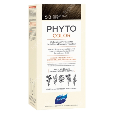 Phyto PhytoColor 5,3 Chatain Clair Dore Farba do włosów - jasny złoty kasztan 50+50+12