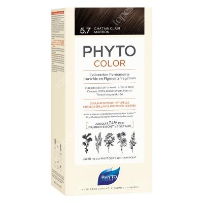Phyto PhytoColor 5,7 Chatain Clair Marron Farba do włosów - jasny kasztanowy brąz 50+50+12