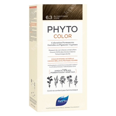 Phyto PhytoColor 6,3 Blond Fonce Dore Farba do włosów - ciemny złoty blond 50+50+12