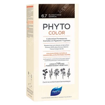 Phyto PhytoColor 6,7 Blond Fonce Marron Farba do włosów - ciemny czekoladowy blond 50+50+12