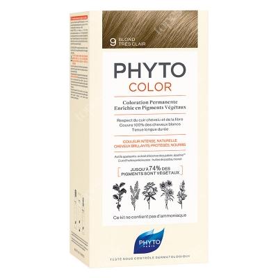 Phyto PhytoColor 9 Blond Tres Clair Farba do włosów - bardzo jasny blond 50+50+12