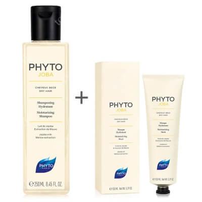 Phyto Phytojoba Set ZESTAW Szampon nawilżający 250 ml + Maska intensywnie nawilżająca 150 ml