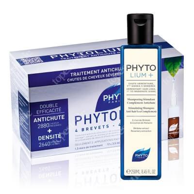 Phyto Phytolium Set ZESTAW Ampułki przeciw wypadaniu włosów typu męskiego 12x3,5 ml + Szampon stymulujący kurację 250 ml