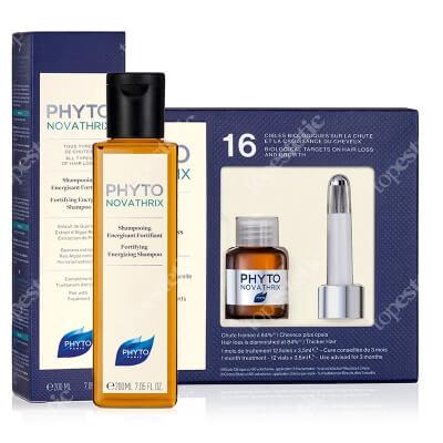 Phyto Phytonovatrix Set ZESTAW Kuracja przeciw wypadaniu włosów 12x3,5 ml + Wzmacniający szampon energetyzujący 200 ml