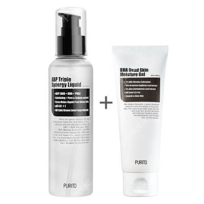 Purito ABP Triple Synergy Liquid + BHA Dead Skin Moisture Gel ZESTAW Delikatny tonik złuszczający 160 ml + Nawilżający żel złuszczający 100 ml