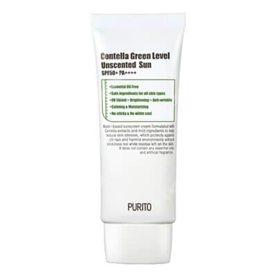 Purito Centella Green Level Uscented Sun SPF 50 + PA ++++ Bezzapachowy krem przeciwsłoneczny 60 ml