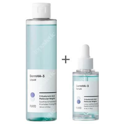 Purito DermHA-3 Set ZESTAW Serum intensywnie nawadniające 50 ml + Toner intensywnie nawadniający 200 ml
