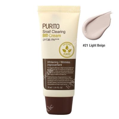 Purito Snail Clearing BB Cream Light Beige Krem BB z wyciągiem ze śluzu ślimaka (odcień 21 Jasny beż) 30 ml