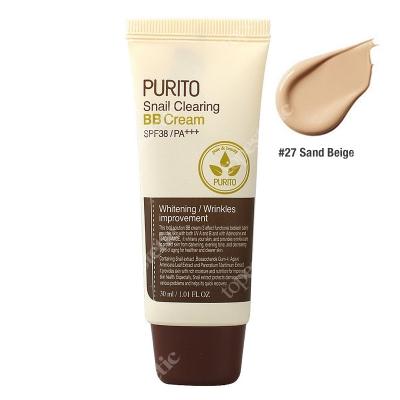 Purito Snail Clearing BB Cream Sand Beige Krem BB z wyciągiem ze śluzu ślimaka (odcień 27 Piaskowy beż) 30 ml