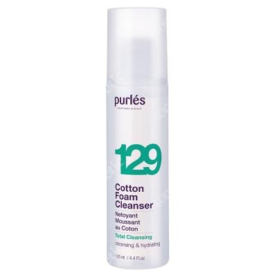 Purles 129 Cotton Foam Cleanser Pianka myjąca z wyciągiem z bawełny 125 ml