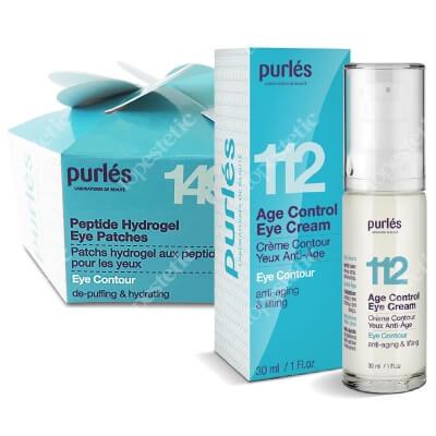 Purles 149 Peptide Hydrogel Eye Patches + 112 Age Control Eye Cream ZESTAW Płatki peptydowe pod oczy 60 szt + Przeciwzmarszczkowy Krem na Okolice Oczu 30 ml