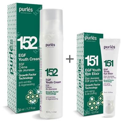 Purles 151 EGF Youth Eye Elixir + 152 EGF Youth Cream ZESTAW Eliksir młodości pod oczy 15 ml + Krem młodości 50 ml