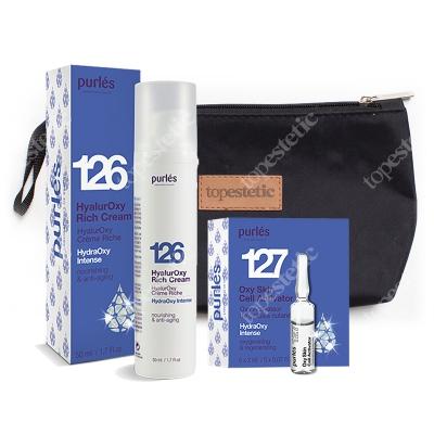 Purles HydraOxy Set ZESTAW Bogaty krem 50 ml + Aktywator komórek skóry 5 x 2 ml + Kosmetyczka