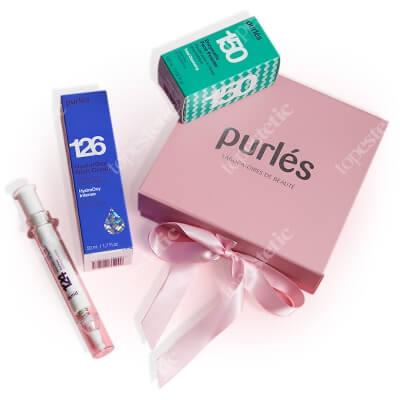 Purles Hydrating Set 2020 ZESTAW Bogaty krem hyaluroxy 50 ml + Enzymatyczny puder myjący do twarzy 100 ml + Kojący żel aloesowy 10 ml