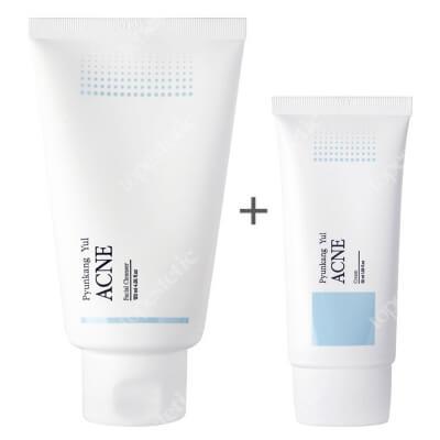 Pyunkang Yul ACNE Cream + Facial Cleanser ZESTAW Bezolejowy, hipoalergiczny krem przeciwtrądzikowy 50 ml + Antybakteryjny, przeciwzapalny żel do mycia twarzy 120 ml