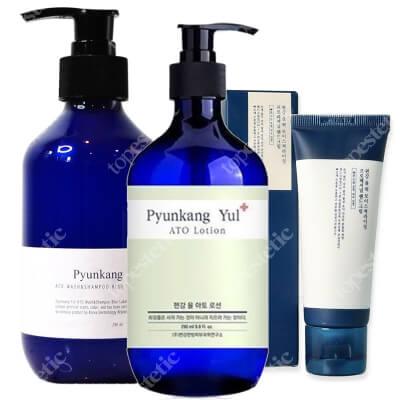 Pyunkang Yul Body Set ZESTAW Żel i szampon w jednym 290 ml + Balsam do ciała 290 ml + Nawilżający krem do rąk 50 ml