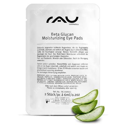 RAU Cosmetics Beta Glucan Moisturizing Eye Pads Nawilżające i chłodzące płatki pod oczy 12 ml
