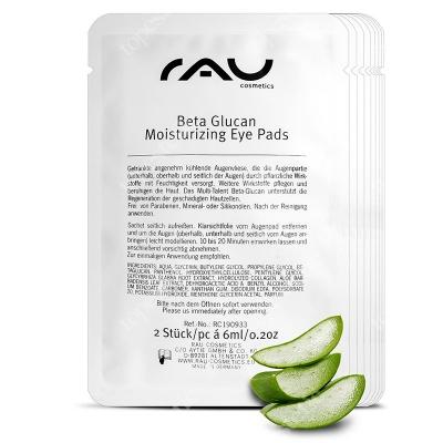 RAU Cosmetics Beta Glucan Moisturizing Eye Pads Nawilżające i chłodzące płatki pod oczy 8x12 ml